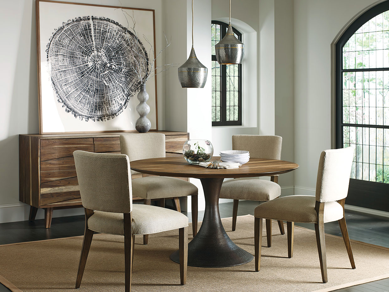Casablanca Round Dining Table Glass Top With Beveled Edge SKU: CA303B U2013  Base CA54DIA U2013 1/2u201d Thick 54u2033 Diameter X 29.5u2033h