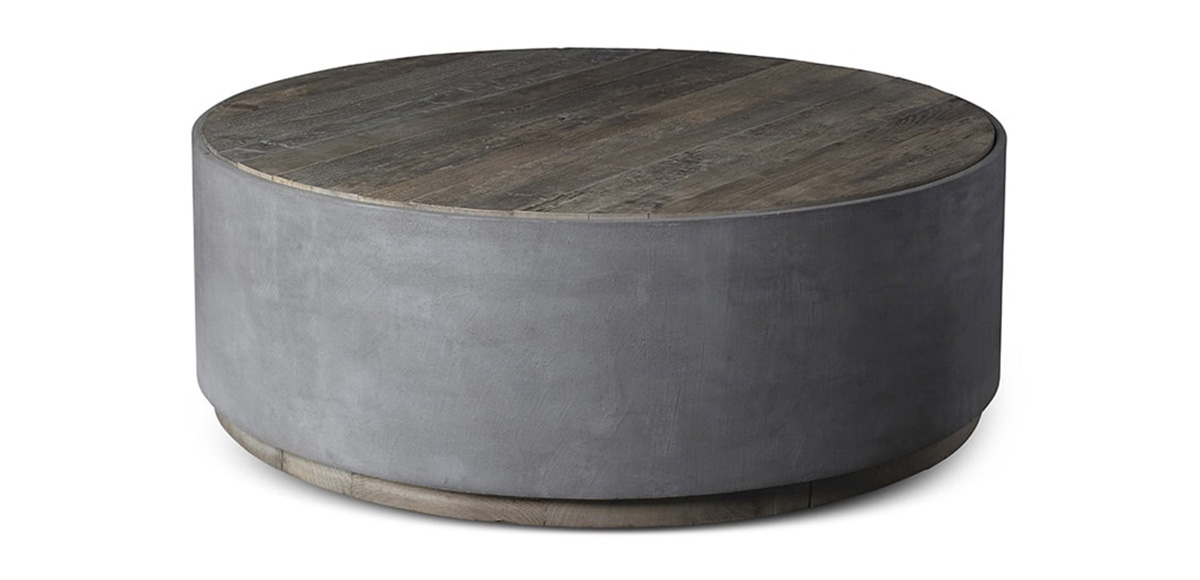 The Griffin Tables Are Crafted With A Striking Combination Of Concrete  Surfaces And Reclaimed Elm Wood. These Beautiful Tables Are Bold And  Graceful In Any ...