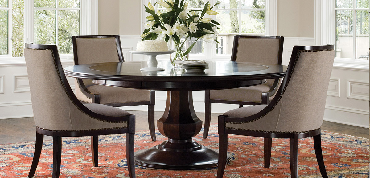 Sienna Round Dining Table Brownstone Furniture - Circle dining room table with leaf