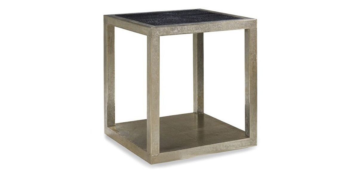 The Treviso Leather Tables Are Exquisitely Made Of German Silver And  Crocodile Embossed Leather That Will Be The Centerpiece In Any Living Room  Setting.